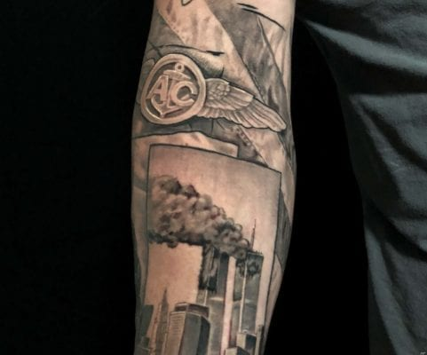 Abstract Arm Piece | Electric Fresco Tattoos PDX