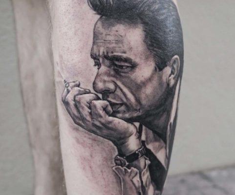 Black and Grey Johnny | Electric Fresco Tattoos PDX