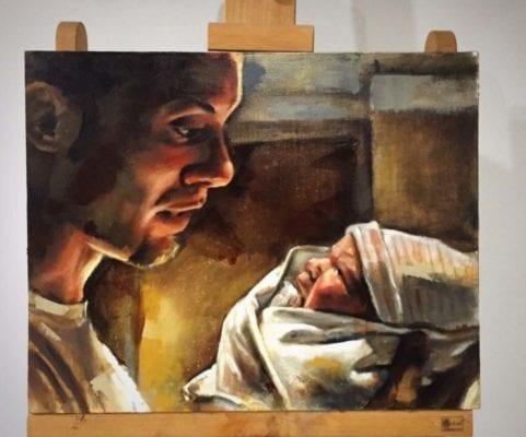Father & Newborn   Electric Fresco Tattoos PDX