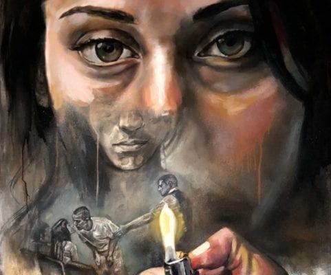 Female Gaze and Ligher   Electric Fresco Tattoos PDX