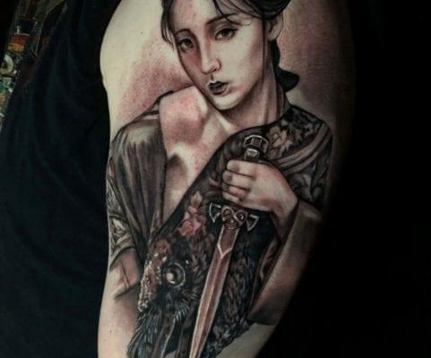 Geisha Portrait | Electric Fresco Tattoos PDX