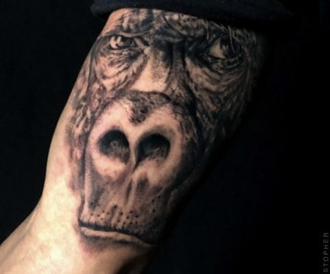 Gorilla Arm Tattoo | Electric Fresco Tattoos PDX