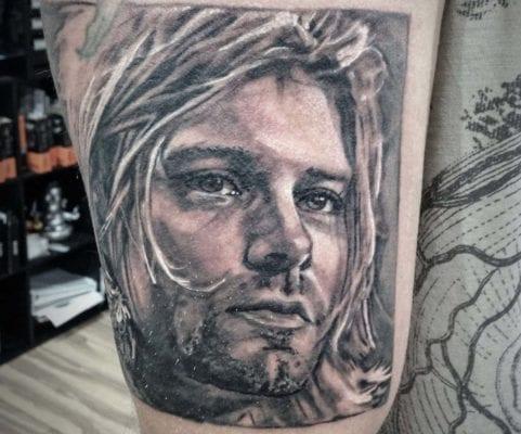 Kurt Cobain | Electric Fresco Tattoos PDX