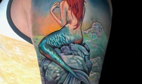 Color Mermaid | Electric Fresco Tattoos PDX