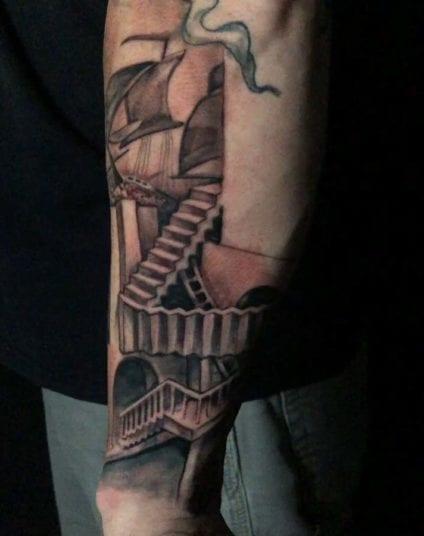 MC Escher   Electric Fresco Tattoos PDX