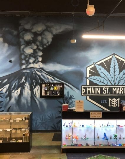 Main Street Marijuana Wall Mural | Electric Fresco Tattoos PDX