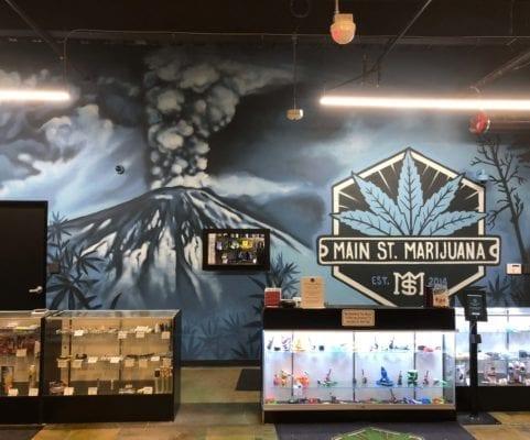 Main Street Marijuana Wall Mural | Electric Fresco Tattoos PDX