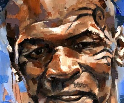 Mike Tyson Oil Portrait   Electric Fresco Tattoos PDX