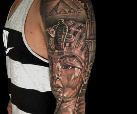 Pharoah Egypt Sleeve | Electric Fresco Tattoos PDX