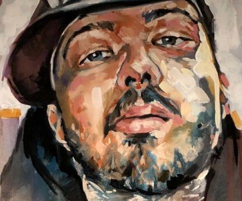 Portrait of a Man   Electric Fresco Tattoos PDX