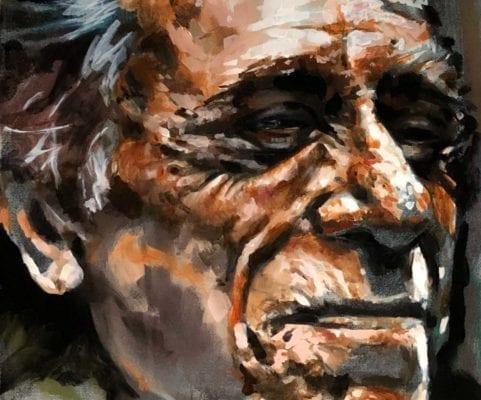 Portrait of Older Gentleman   Electric Fresco Tattoos PDX