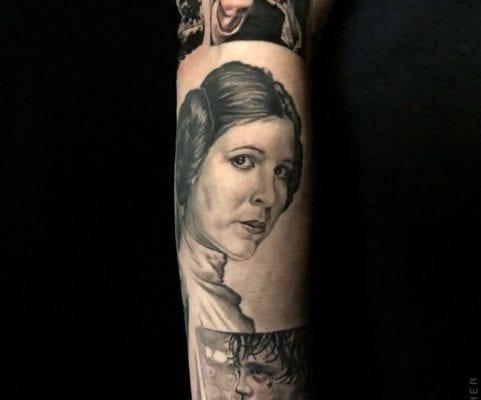 Star Wars Princess Leia | Electric Fresco Tattoos PDX