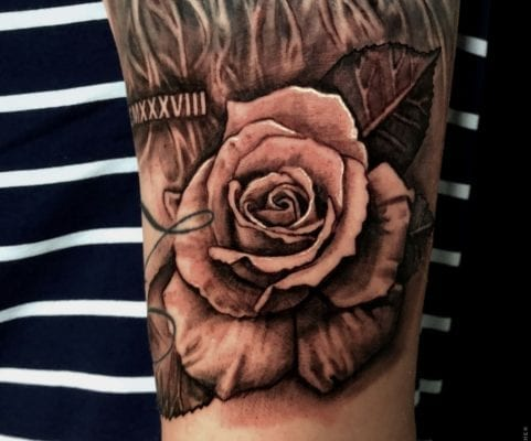 Rose Close Up | Electric Fresco Tattoos PDX