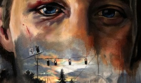 Scarred Eyebrow Oil Painting | Electric Fresco Tattoos PDX