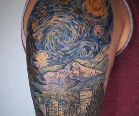 Starry Night | Electric Fresco Tattoos PDX